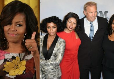 Michelle Obama is giving 20th Century Fox's new film Hidden Figures two thumbs up.