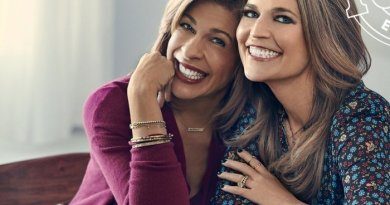 Hoda Kotb and Savannah Guthrie photographed at a studio in New York, NY on December 28, 2017.  Photographer: Brian Doben  Hair: Laura Bonanni Castorino/Vu Salon Makeup: Mary Kahler Guthrie's Manicurist: Maria Brown/Exclusive Artists Stylist: Stephanie Tricola @ Honey Artists Wardrobe: Look 1 Hoda: Sweater: Club Monaco† Jewelry: Combination of Hodaís own and Michele Varian†  Savannah: Dress: Maje† Jewelry: Combination of Savannahís own and Michele Varian