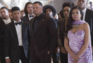 """EMPIRE: Pictured L-R: Bryshere Gray, Terrence Howard, AzMarie Livingston, and Taraji P. Henson in the """"Past is Prologue"""" season finale episode of EMPIRE airing Wednesday, May 18 (9:00-10:00 PM ET/PT) on FOX. ©2016 Fox Broadcasting Co. CR: Chuck Hodes/FOX"""