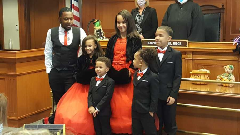 """Single Man Adopts Five Siblings to Keep them Together: """"I'm Your Dad Forever"""""""