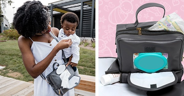 Black Mom Invents and Launches the Most Functional, Convenient & Compact Diaper Changing Bag Available